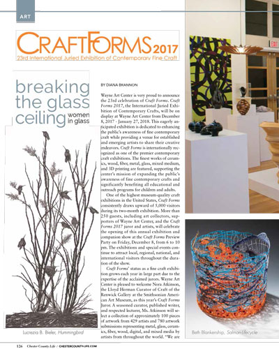 Chester County Life Craft Forms 2017